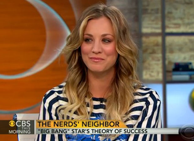 Kaley Cuoco appearing on CBS' This Morning, New York, 26 February 2014