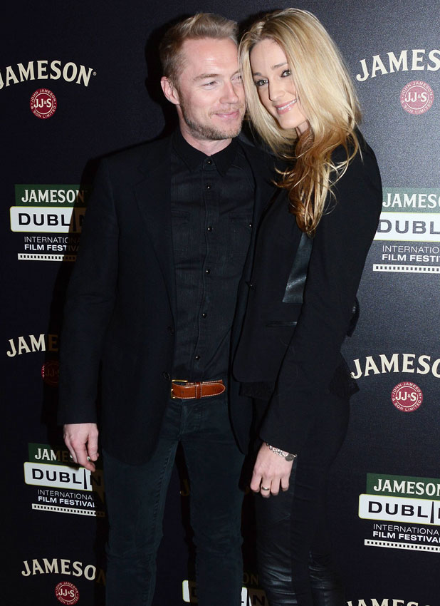 Ronan Keating and girlfriend Storm Uechtritz attend a screening of 'Goddess' at the Jameson Dublin International Film Festival, 22 February 2014