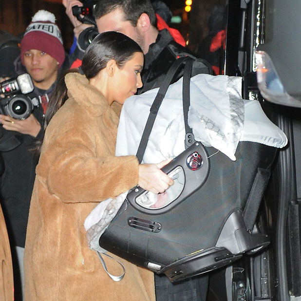 Kim Kardashian with baby North, out and about, New York, America - 25 Feb 2014