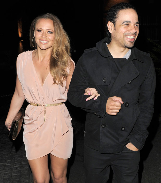 Kimberley Walsh and her boyfriend Justin Scott leaving Gilgamesh restaurant London, England - 31.03.12