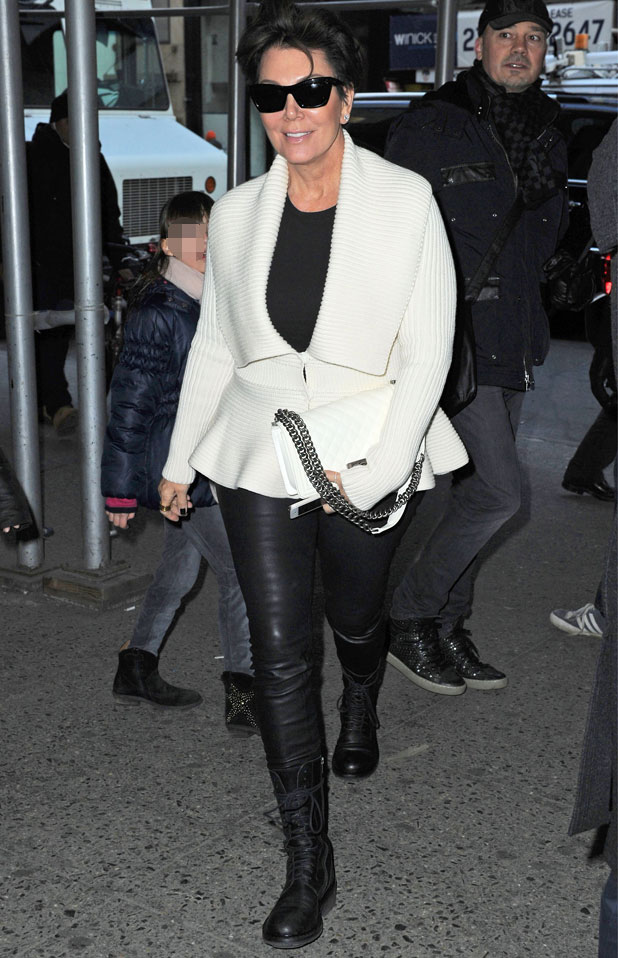 Kris Jenner out and about, New York, America - 25 Feb 2014