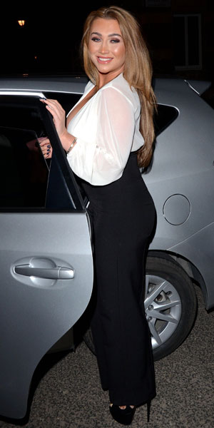 Lauren Goodger attends Marina Laslo gig at St James Theatre, Victoria, London, 22 February 2014