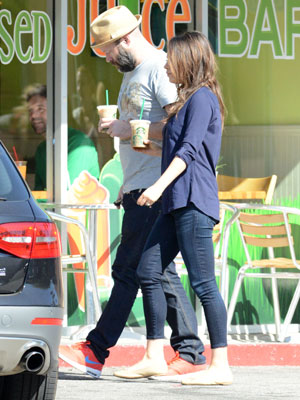 Mila Kunis out with a friend in Los Angeles, 21 February 2014