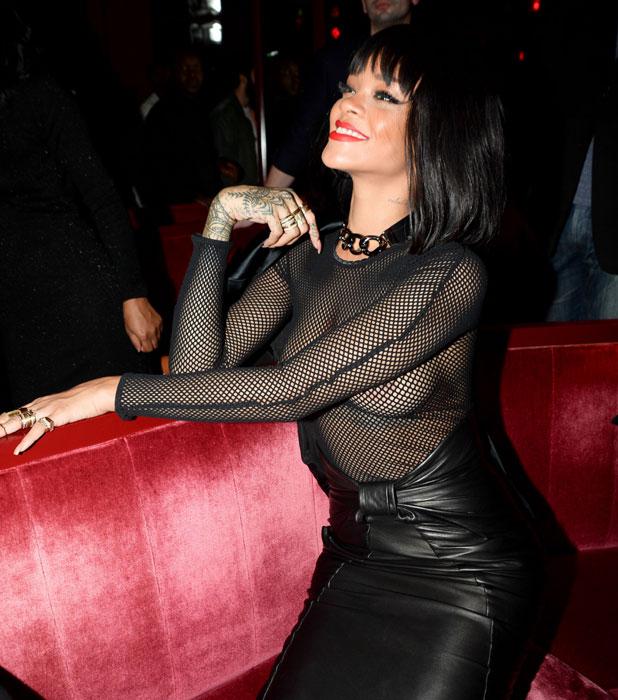 Rihanna, Balmain show after party, Paris Fashion Week, France - 27 Feb 2014