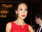 Myleene Klass stuns in red lace floor-length dress from Littlewoods range
