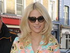 Pixie Lott visits the hairdressers wearing colourful summer dress
