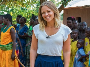 Kimberley Walsh visits Africa to help end domestic abuse: photos