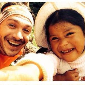 Kirk Norcross continues on his charity trek in Macchu Picchu in Peru and visits the local village children (6 March 2014).