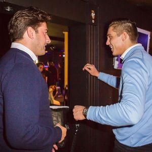 James 'Arg' Argent and Lewis Bloor film scenes for The Only Way Is Essex. (2 March 2014)