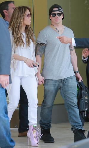 Jennifer Lopez and Casper Smart leaves Power 106 FM Studios 03/05/2014 Los Angeles, California, United States