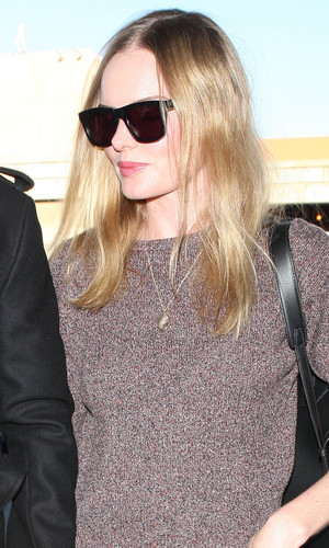 Kate Bosworth and Michael Polish at LAX airport, Los Angeles, America - 17 January 2014