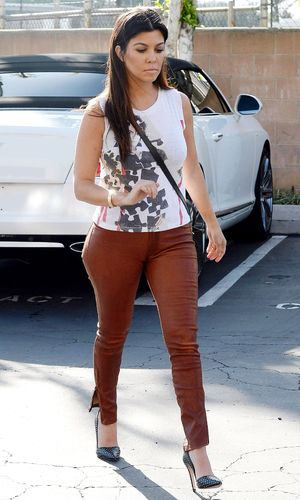 The Kardashians out and about, Los Angeles, America - 04 Mar 2014 Kourtney Kardashian