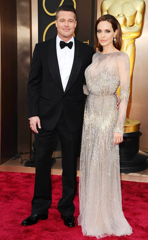 Brad Pitt and Angelina Jolie, 86th Annual Academy Awards Oscars, Arrivals, Los Angeles, America - 02 Mar 2014