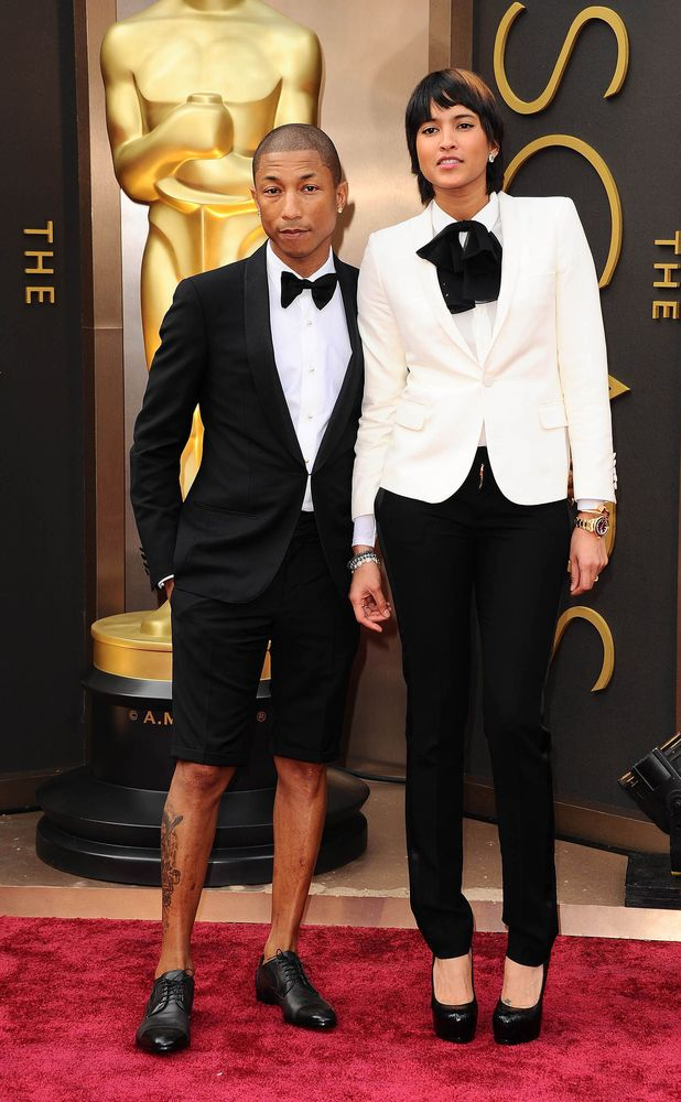 Pharrell Williams and Helen Lasichanh, 86th Annual Academy Awards Oscars, Arrivals, Los Angeles, America - 02 Mar 2014