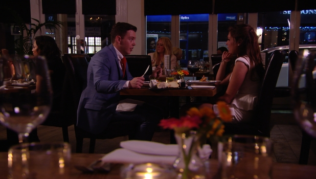 Fran Parman and Diags on a date in TOWIE, 9 March 2014