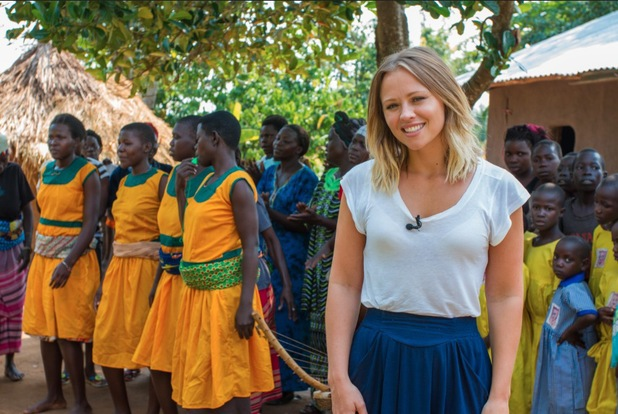 Kimberley Walsh visits Uganda for Sport Relief  (in 2013) - March 2014