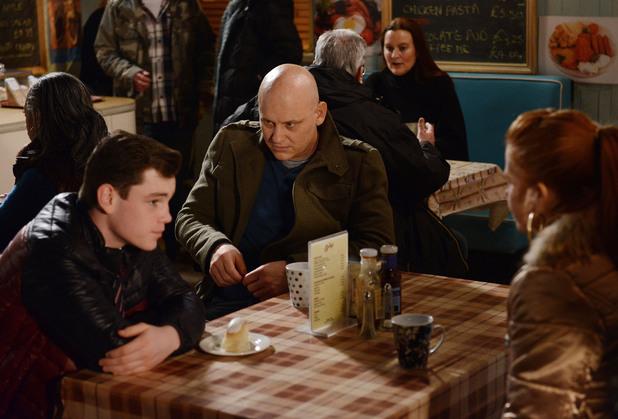EastEnders, Terry talks to TJ, Fri 7 MAr