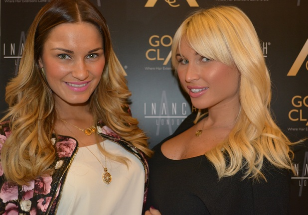 Sam Faiers and Billie Faiers get Gold Class Hair extensions at Inanch Salon in London - 6 March 2014