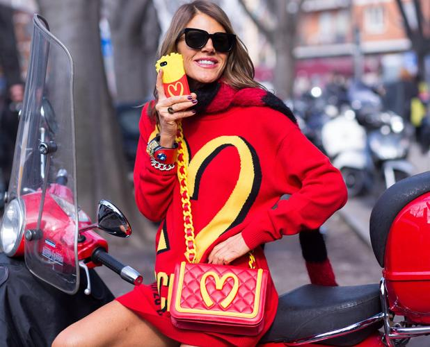 Anna Dello Russo at Milan Fashion Week in Italy - 21 February 2014