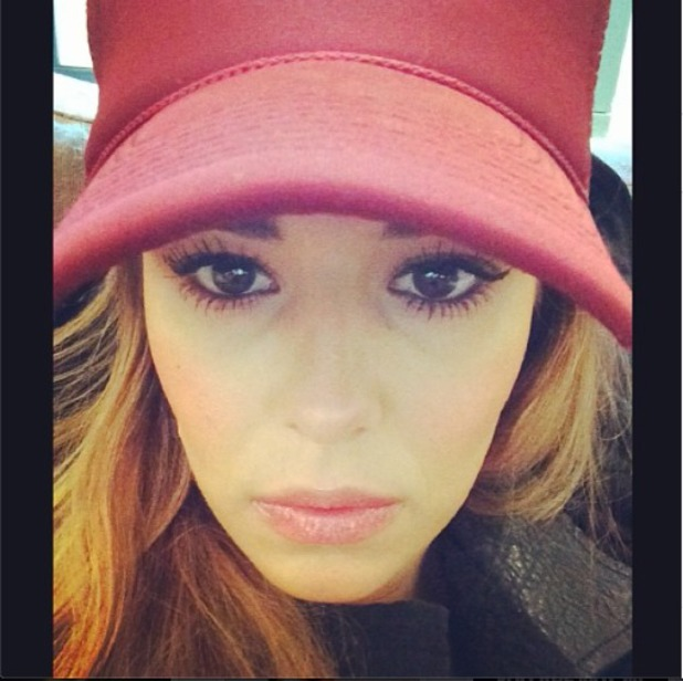 Cheryl Cole looks sad in an Instagram picture shared 4 March 2014