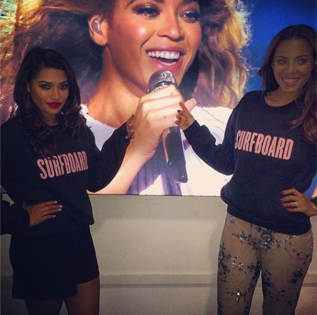 The Saturdays' Rochelle Humes and Vanessa White go to see Beyoncé in concert. (6 March 2014).