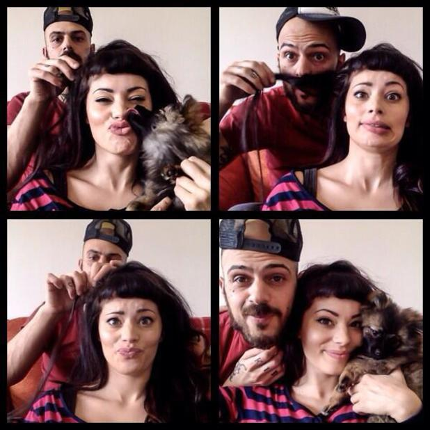 5ive's Abz Love and girlfriend Vicky Fallon - 5 March 2014