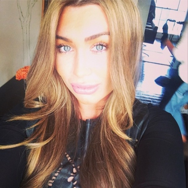 Lauren Goodger shows off shorter hair during Los Angeles trip (6 March 2014).