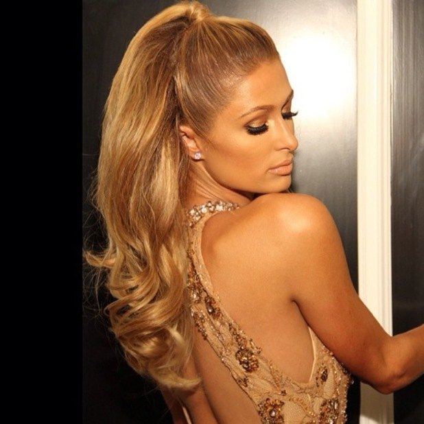 Paris Hilton gets ready for the Fame & Philanthropy Post-Oscar Party in Beverly Hills - 3 March 2014
