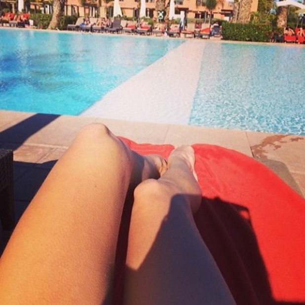 Casey Batchelor shares holiday pictures from Morocco - 4 March 2014