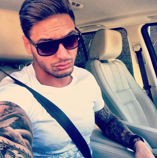 TOWIE's Mario Falcone poses for selfie - 4.3.2014
