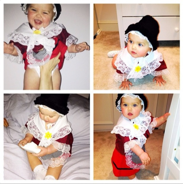 Imogen Thomas' daughter Ariana celebrates St David's Day - 1 March 2014