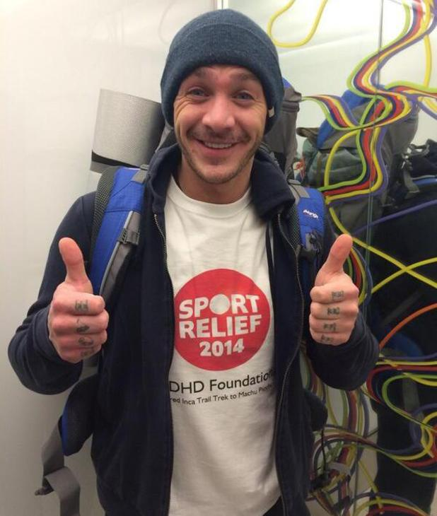 Kirk Norcross lands in Peru for Sports Relief climb - 3 March 2014