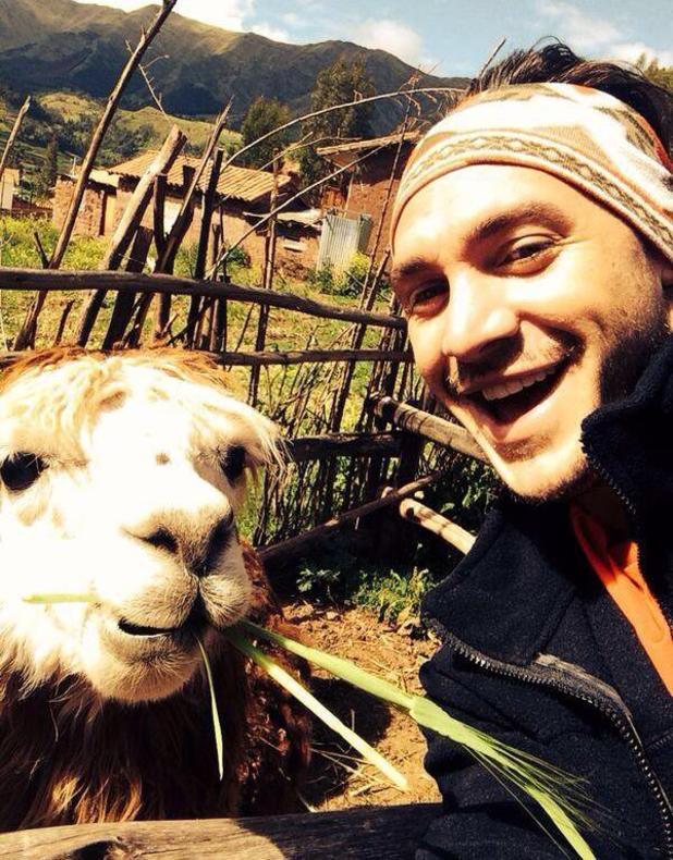 Kirk Norcross on charity trek in Macchu Picchu in Peru (6 March 2014).