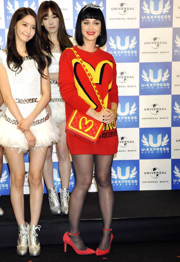 Katy Perry at the U-Express Live 2014 press conference in Saitama, Japan - 2 March 2014