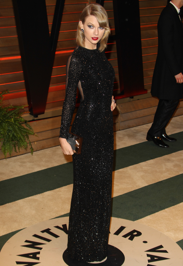 Taylor Swift attends the 86th Annual Academy Awards Oscars Vanity Fair Party in Los Angeles, America - 2 March 2014