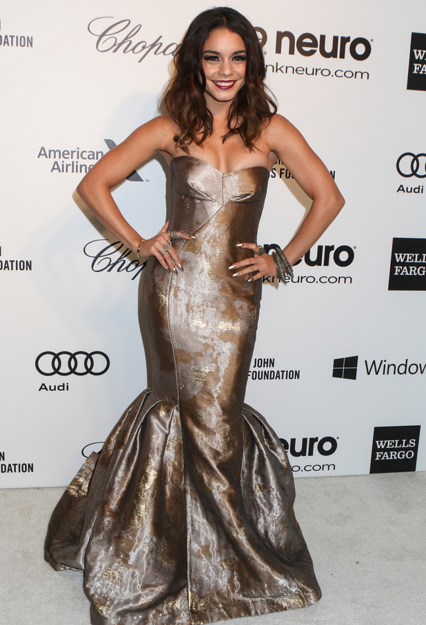 Vanessa Hudgens attends the 22nd Annual Elton John AIDS Foundation Academy Awards Oscars viewing party in West Hollywood, 2 March 2014
