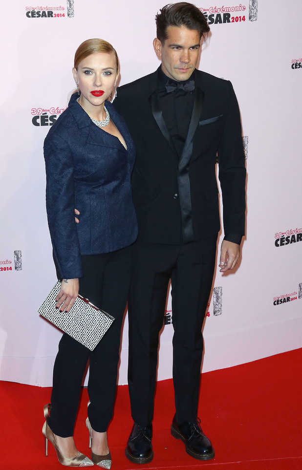 39th Cesar Film Awards: Scarlett Johansson,Romain Dauriac - 28 Feb 2014