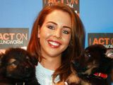 Lydia Bright looked chic in floral trousers as she stepped out at Crufts: photos