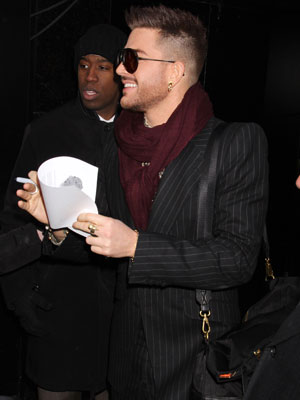 Adam Lambert out and about in New York, America - 06 Mar 2014
