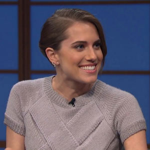 Allison Williams on Late Night with Seth Meyers, 4 March 2014
