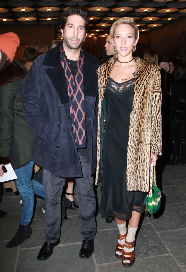 David Schwimmer and Zoe Buckman, Biennial Opening Night held at Whitney Museum of American Art, New York, America - 04 Mar 2014