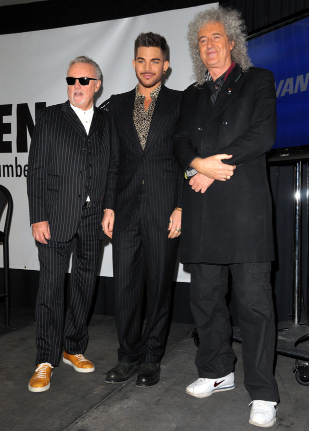 """""""Queen"""" and Adam Lambert Press Conference at The Madison Square Garden, 6 March 2014"""
