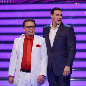 Take Me Out's Paddy McGuinness and contestant Richard. Aired: Saturday 8th February 2014, episode 6.