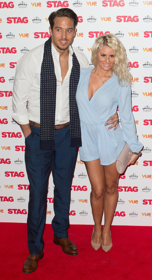 James Lock and Danielle Armstrong at the gala screening of 'The Stag' held at the Vue West End, Leicester Square - Arrivals 13 March 2014.
