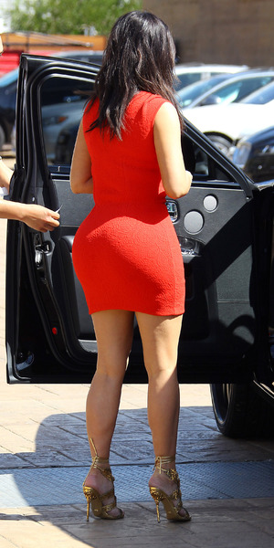 Kim Kardashian out and about in Los Angeles, America - 14 Mar 2014