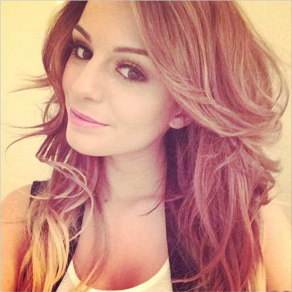 A Twitter picture that Cher Lloyd posted of her new blonde hair - 13 March 2014