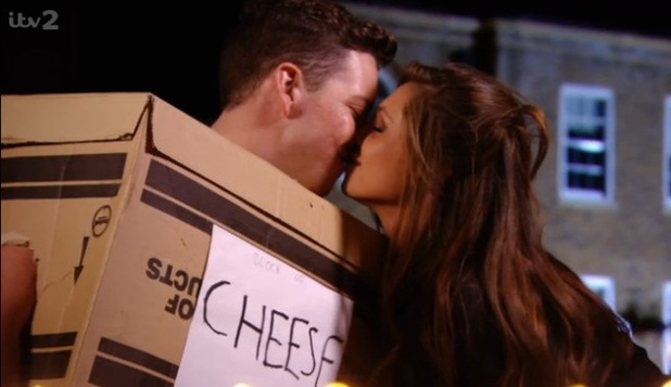 TOWIE: James 'Diags' Bennewith and Fran Parman kiss at Arg's food party (12 March).