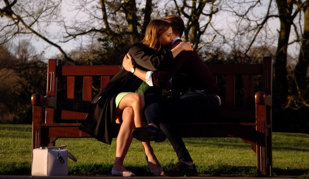 TOWIE: Ferne McCann and Charlie Sims meet up to discuss their future. Aired: 12 March 2014.