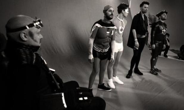 Keith Lemon dresses up as a superhero alongside TOWIE</em>&#39;s Joey Essex, TV personality Rylan Clark and Big Reunion stars Abz Love and Antony Costa for the new series of Celebrity Juice. (11 March 2014).