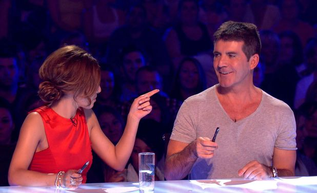Cheryl Cole with Simon Cowell - The X Factor - auditions 2010